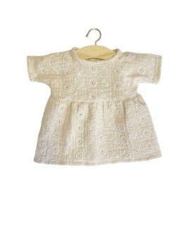Minikane, Cotton Faustine Dress Embroidered Putty