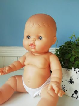Minikane, Baby Boy Arlo with Underwear  (blue eyes) **Comes w Underwear & Bag**