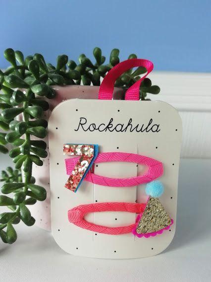 Rockahula Kids, Birthday Glitter Clips - Age 7