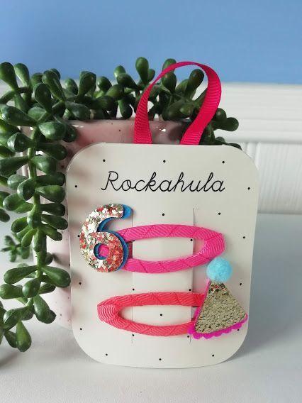 Rockahula Kids, Birthday Glitter Clips - Age 6