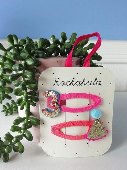 Rockahula Kids, Birthday Glitter Clips - Age 3