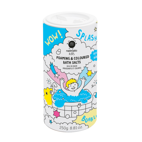 Nailmatic, Foaming Bath Salts - Blue