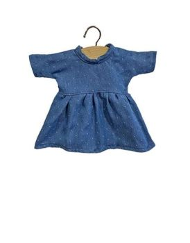 Minikane, Amigas Faustine cotton dress Denim with dots