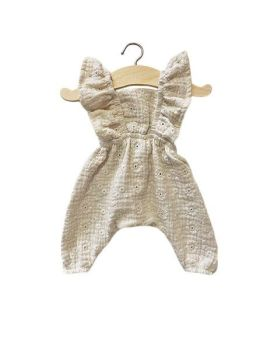 Minikane, MAYA Jumpsuit - Embroidered Putty