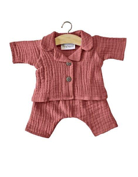 "Minikane, ""Albert"" pyjamas in double gauze - Marsala"