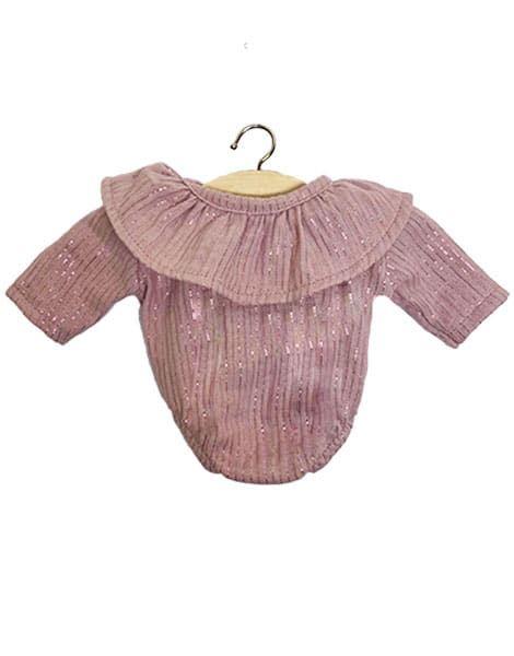 Minikane, Frilly Body Cotton Double Gaze (Glittery Pink)