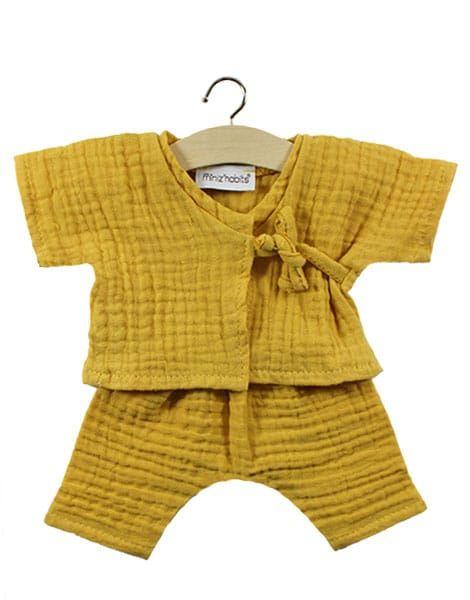 Minikane, Double Gauze Cotton Niko Kimono (Mustard )