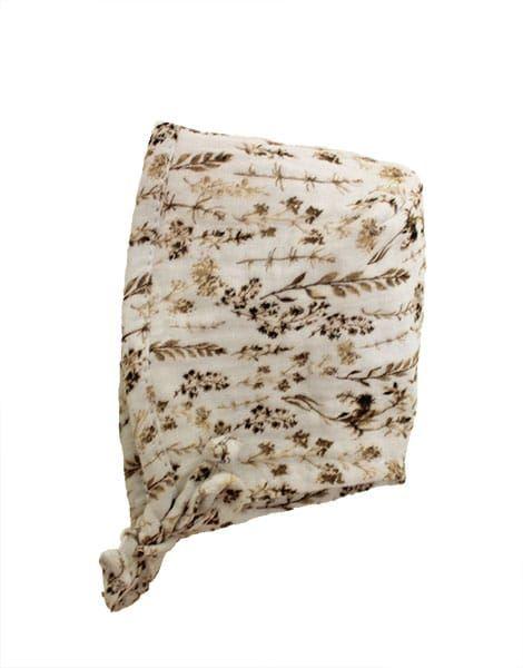 Minikane, Double gauze cotton Bonnet (Niko kimono artic blue)