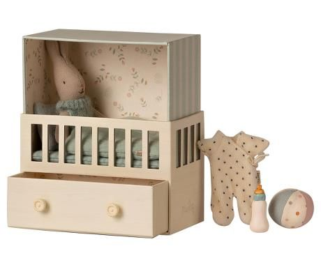 Maileg, Baby Room w Micro Rabbit 2021 **Due End of May**