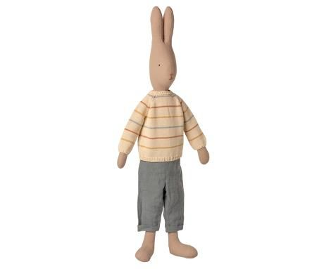 Maileg, Rabbit Size 5 in Pants and Knitted Sweater **Due Late April**