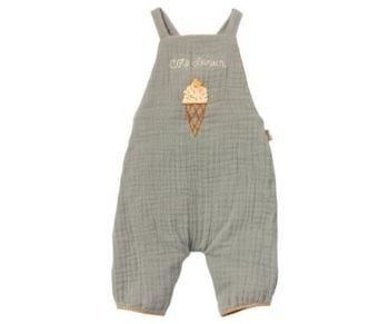 Maileg, Size 4 Dusty Blue Jumpsuit (Ice-cream)  * Outfit Only*
