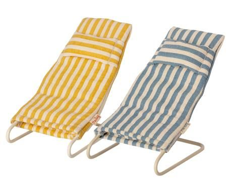 Maileg, Beach Chair Set - Mouse (Due Mid May)