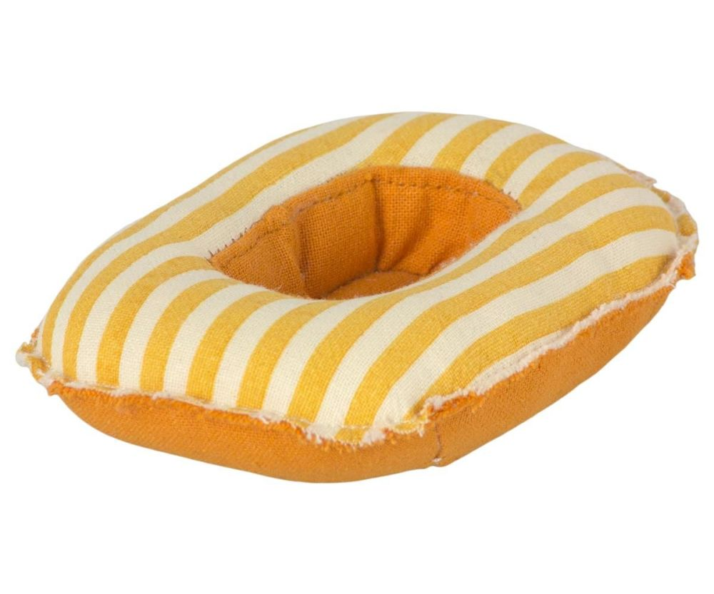 Maileg, Rubber boat, small mouse Yellow stripe **Due Mid May**