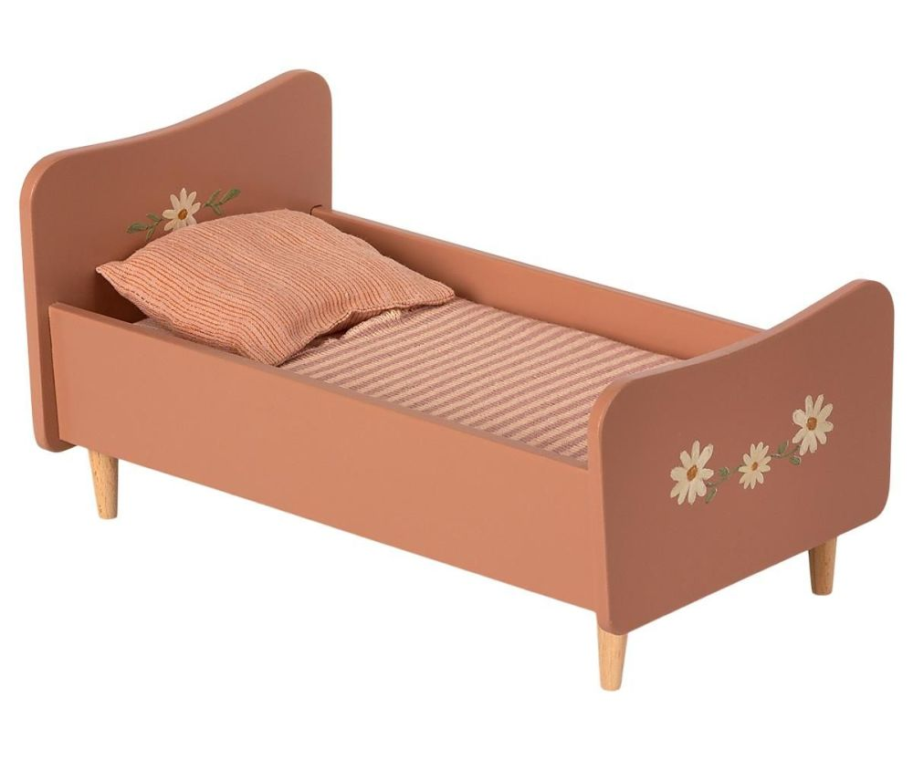 Maileg, WOODEN BED, MINI - ROSE  **Due Mid May**