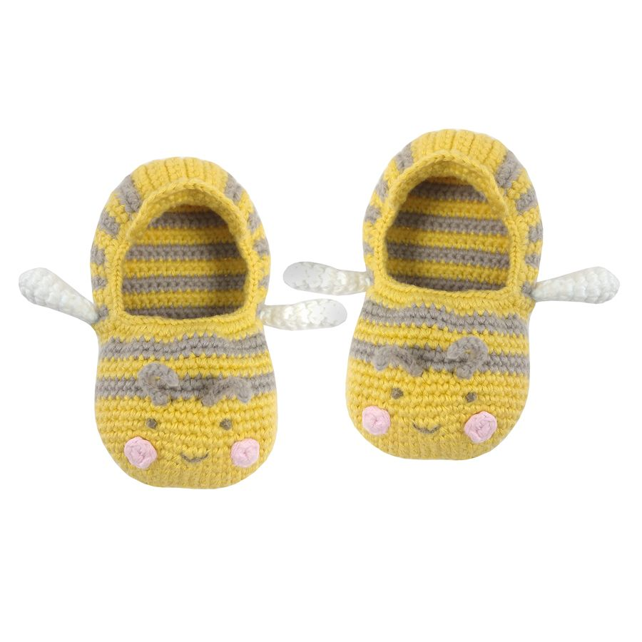 Albetta, CROCHET BABY BEE BOOTIES (3-6mths)  **DUE FEB/MARCH**