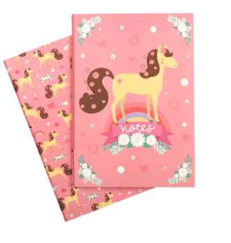A Little Lovely Company, A5 Notebooks: Horse  (Set of 2)