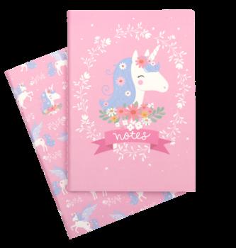 A Little Lovely Company, A5 notebooks: Unicorn