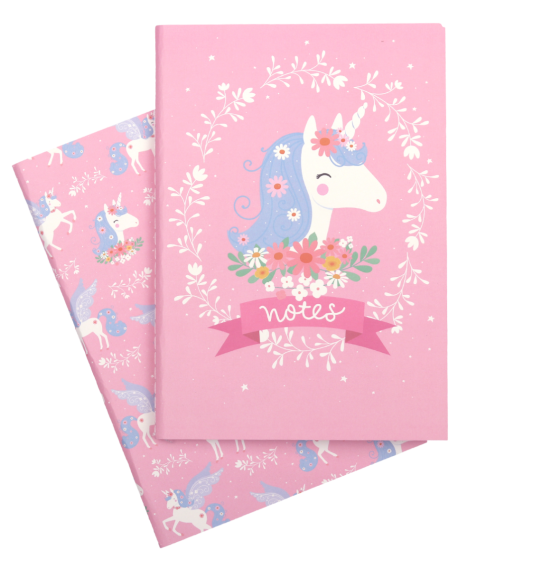 A Little Lovely Company, A5 notebooks: Unicorn  **COMING SOON**