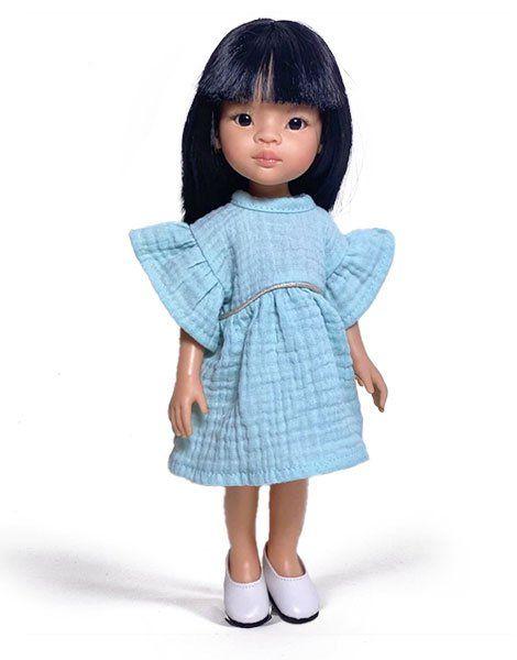 Minikane, Amigas Liu in Daisy Dress (Light Blue)