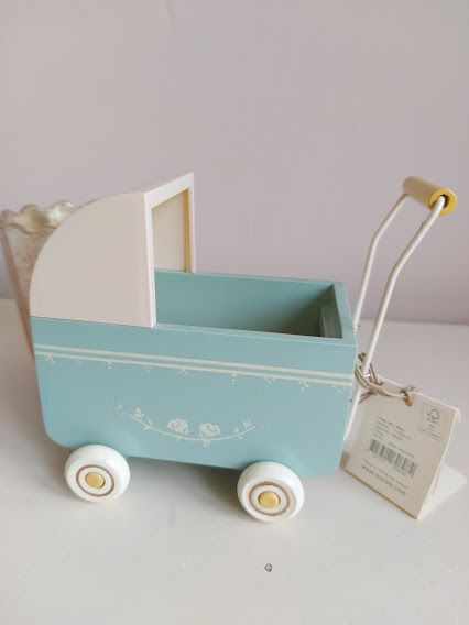 Odds and Ends, Maileg MY Pram Blue **PAINT WORK FAULTS**