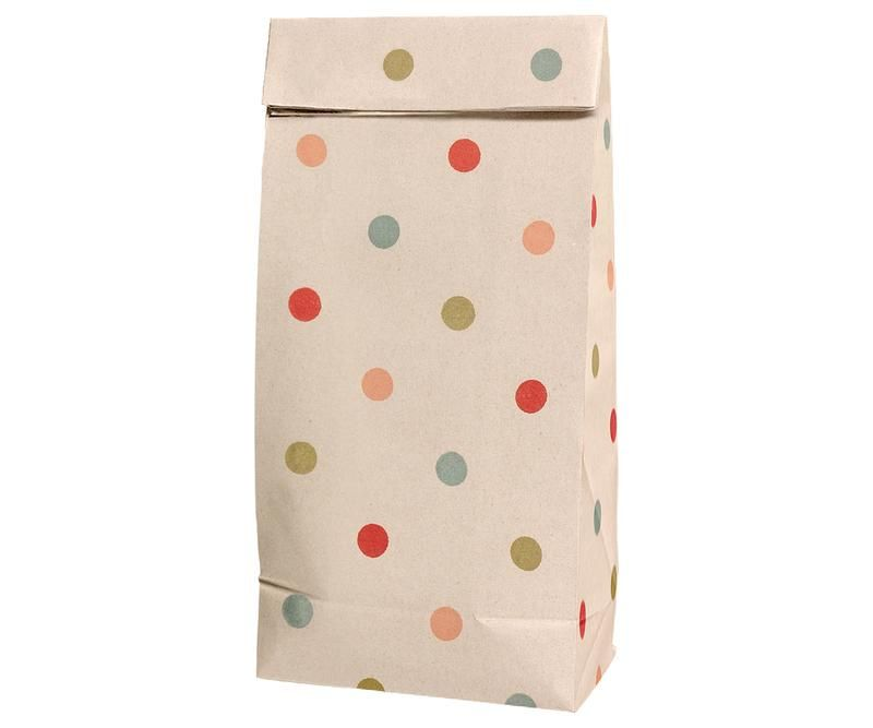 Maileg, Gift Bag W Multi Dots  (Small)