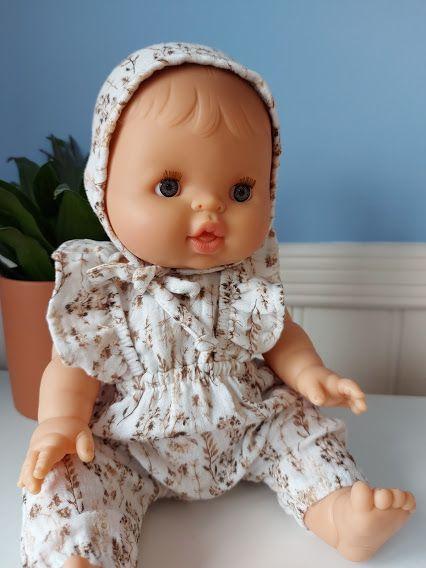 Minikane, Baby Olive in Maya Jumpsuit & Bonnet (Wild Flowers) **Dressed Dol
