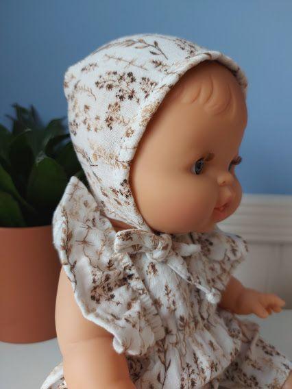 Minikane, Double gauze cotton Bonnet (Wild Flowers)