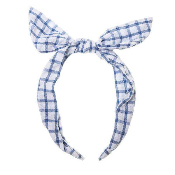 Rockahula Kids, Picnic Check Tie Headband (Blue Check)