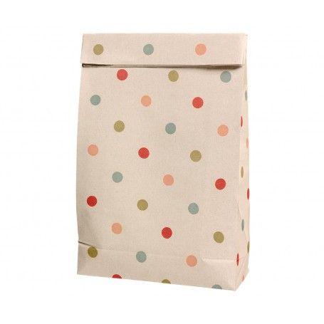 Maileg, Gift Bag W Multi Dots  (Medium)