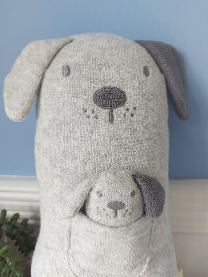 Albetta, Dog Towelling Toy With Puppy In Pocket