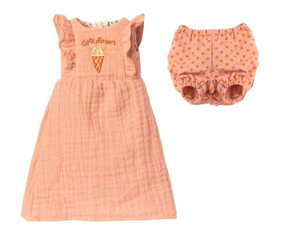 Maileg, Size 3 Pink Ice Cream Jumpsuit  **Due Late April**
