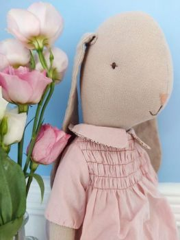 Maileg, Size 4 Bunny in Smock Rose Dress