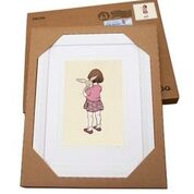 Belle and Boo, Belle Hugs Boo White Framed Print