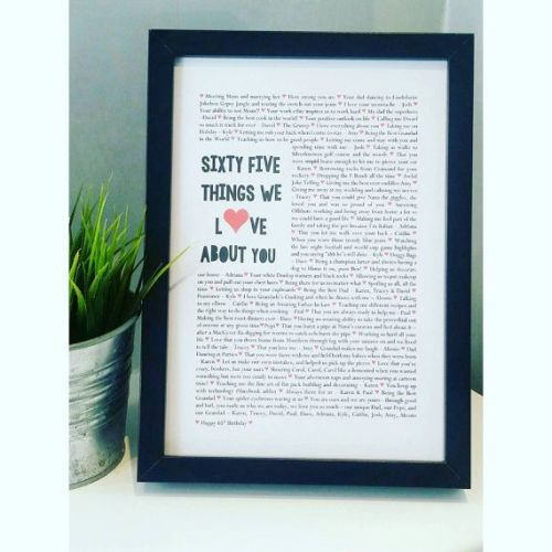 Milestone Ways We Love you Print