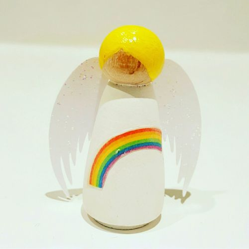 Angel Peg Doll - Rainbow