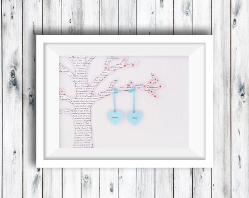 Family Tree Hanging Hearts