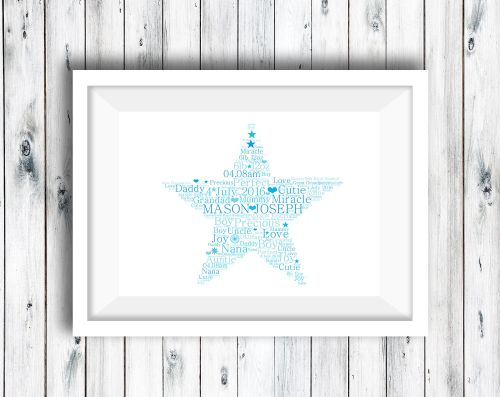 Star - Word Art Print