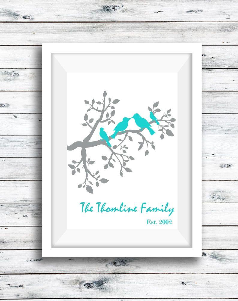 Bird Family Print