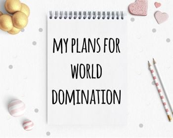Notepad - World Domination