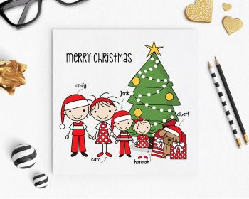 Christmas Cards - Family Stickies Personalised