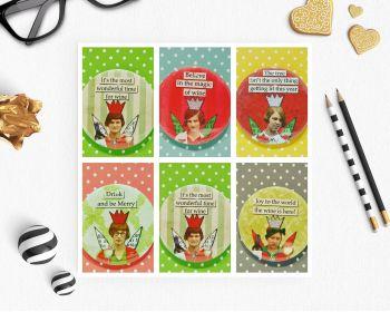Jumbo Pin Badge - Retro Christmas