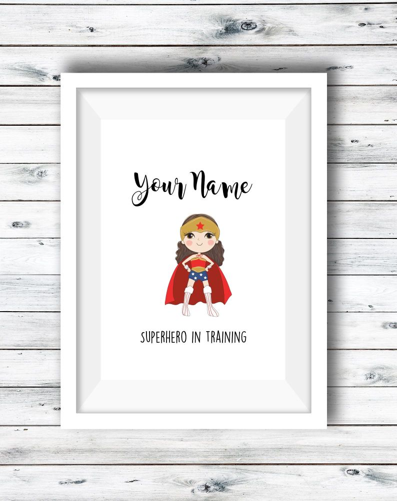 Superhero Personalised Print