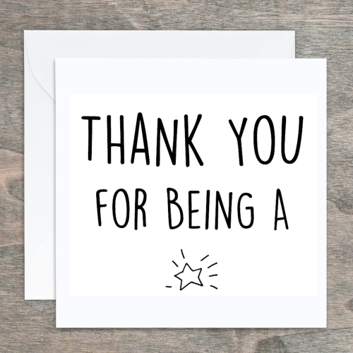Typography Card - Thank you