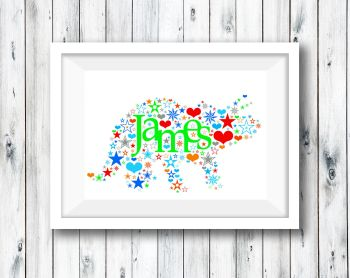 Shape Word Art Print