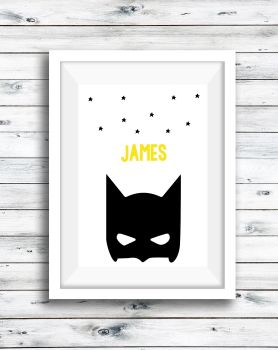 Batman Personalised Print