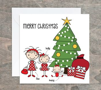 Family Personalised Christmas Cards