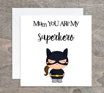 Superhero Card - Personalised Girl