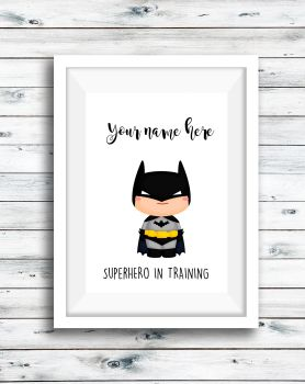 Superhero Print Personalised