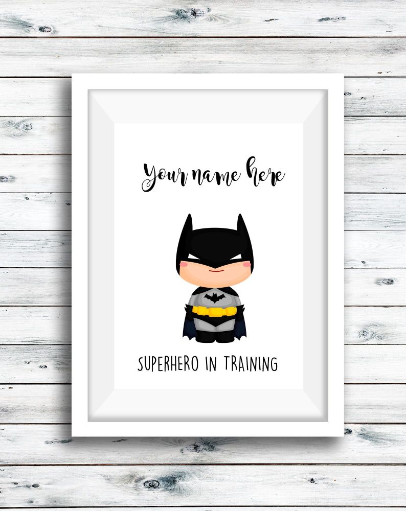 Character Superhero Print Personalised