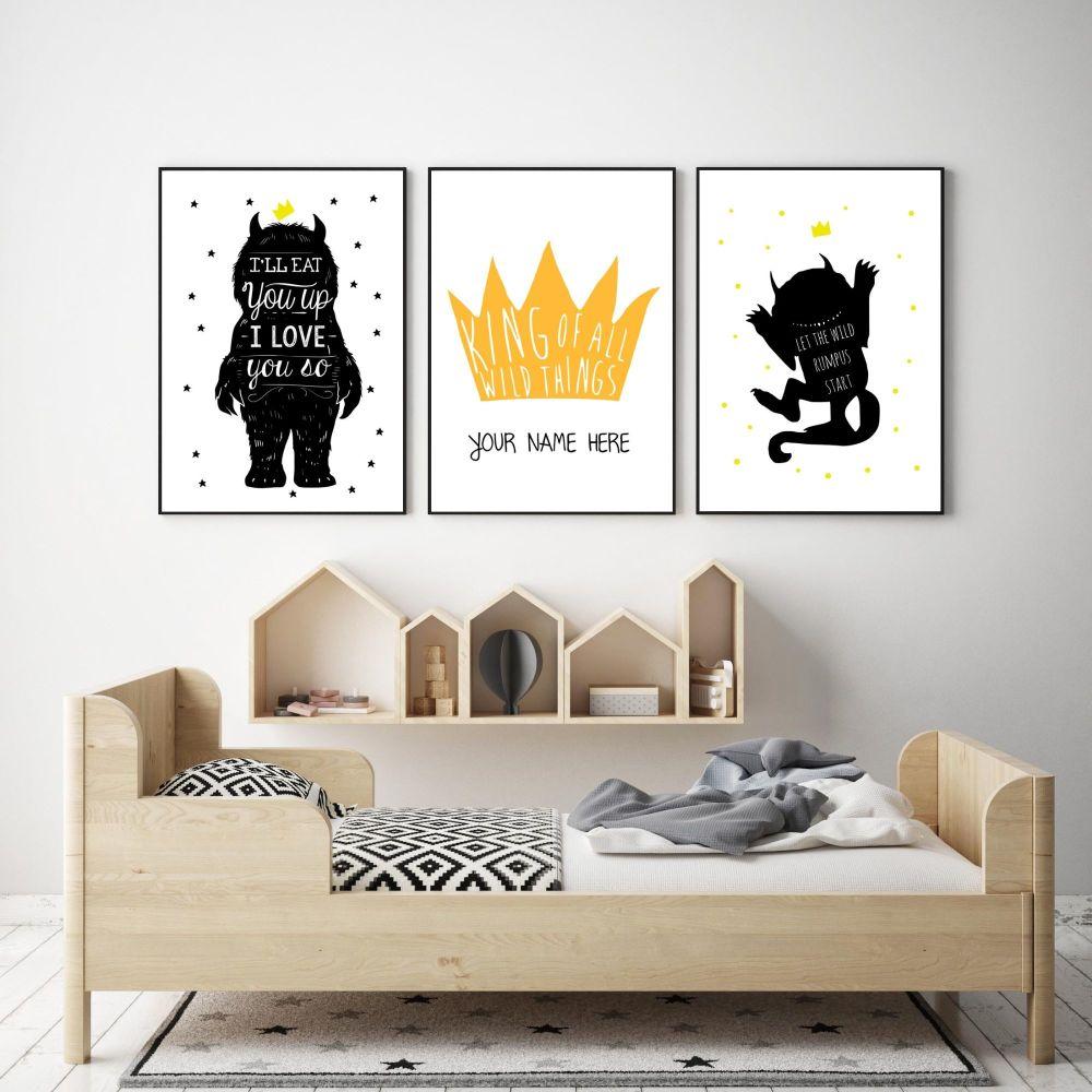 Wild Thing Print Trio